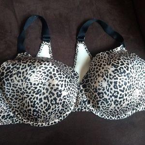 Catherines size 50C Leopard Print Bra